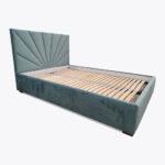 Łóżko sypialniane Roma z metalową ramą na podnośnikach gazowych