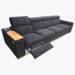 Sofa Loft 77 z funkcją RELAX i pulpitem z drewnianą wnęką