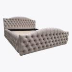 Łóżko sypialniane Chesterfield z kryształkami 160x200
