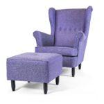 Fotel Uszak 11 z podnóżkiem