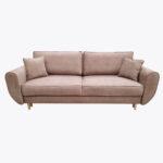 Sofa Beli 6 z gładkimi poduszkami, węższymi bokami