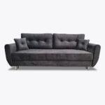Sofa Beli 8 z gładkim siedziskiem, węższe boki